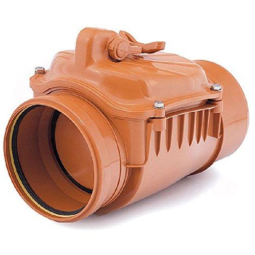 Aby ochronić instalację przed cofaniem się ścieków w razie gwałtownych opadów, blisko przejścia rury kanalizacyjnej przez ścianę fundamentową lub w studzience poza domem warto zamontować zasuwę burzową