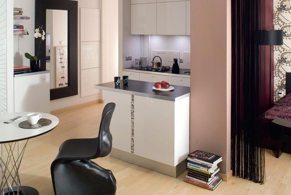 Galeria zdjęć  Mała kuchnia dla singla Jak zyskać