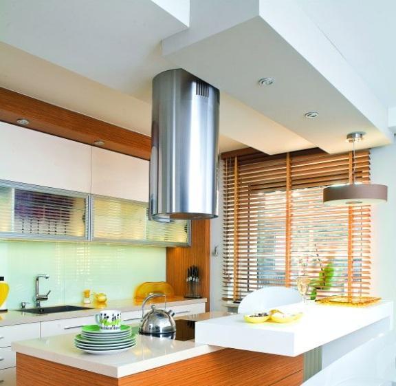 Sufit podwieszany z płyt gipsowo kartonowych w nowym domu  -> Kuchnia Sufit Led