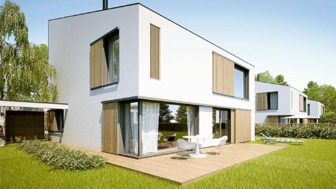 Sky Garden - dom pasywny z ogrodem zimowym