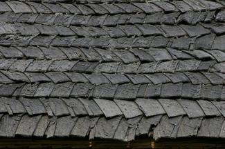 Dach z wiórów
