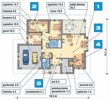Plan domu Murator M09a