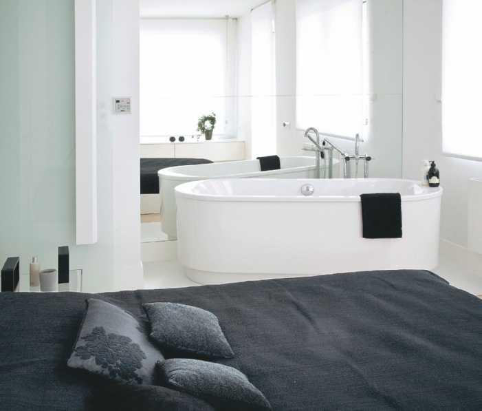 Galeria zdjęć - Nowoczesna sypialnia. Prywatna przestrzeń połączona z garderobą lub łazienką ...